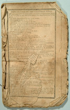 Almanac of 1799 (torn)