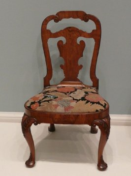 Queen Anne side chair with drop-in seat