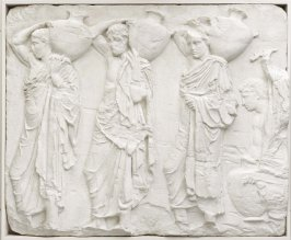Replica of frieze relief, Three Youths carrying Hydriae