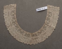 Collar, with jabot trim(b-d) and cuffs(e-f)