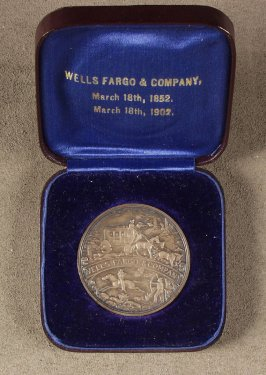 Medal: presented to John S. Eells by Wells Fargo and Companyservice, 1855-1902