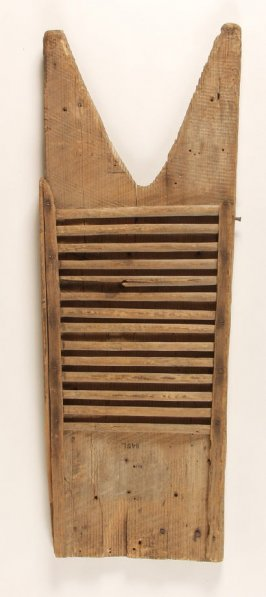 Homemade washboard used in the mines