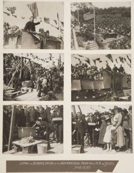 Laying the Cornerstone of the New Memorial Museum by M.H. de Young in Golden Gate Park, April 17, 1917