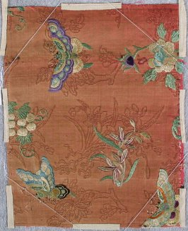 Embroidered brocade (butterfly and flower)