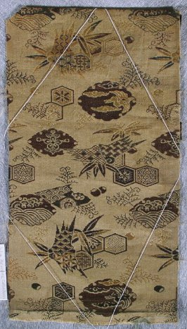 Textile fragment, from a New Year's obi