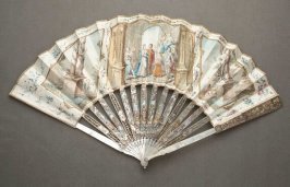 """""""Classical Wedding"""" fan (a) and case (b)"""