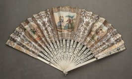 Fan with courtship scene