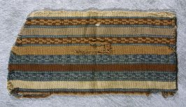 Fragment blue, green, white and brown stripes