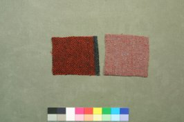 Two of three Harris tweed fragments