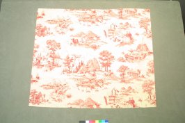 One of nineteen fragments'Americana' toile