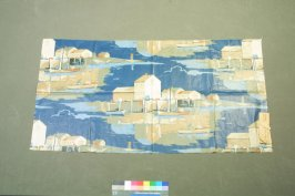 One of fourteen printed cotton fragments