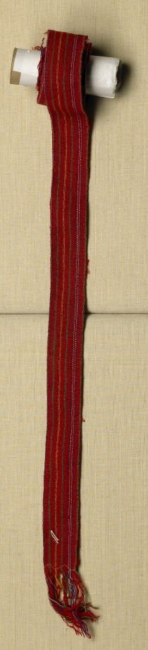 Belt purple and green stripes on red