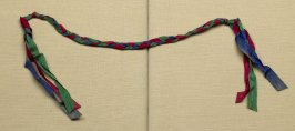 Ribbon braided red, green, blue moire ribbon