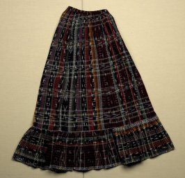 Skirt (part of woman's costume - 42.22.1a-d) multi-colored plaid