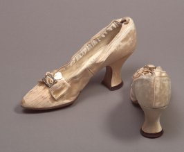 Pair of woman's wedding shoes