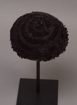 Woman's hat (worn with dress 56.35.13a-b)