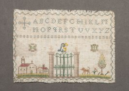 "Miniature sampler: alphabet, ""L.G."""