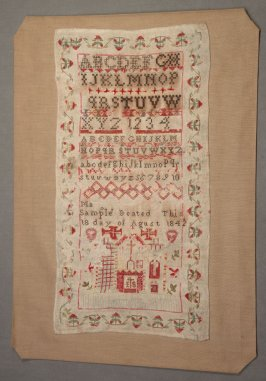 "Sampler: ""Ma Sample Deated this 18 day of Agust 1842"""