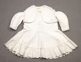 Infant's dress: with matching bolero vest