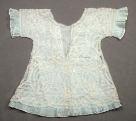 Infant's dress: with aqua colored underskirt