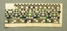 Fragment:, green, blue, brown and white