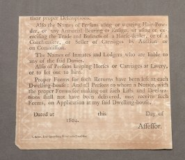 "Paper backing from sampler: ""Anne Crispin came to Dunchideock School..."""