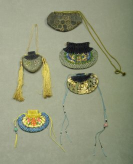 Five small Chinese coin purses