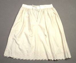 Child's flannel petticoat: with lily-of-the valley embroidery