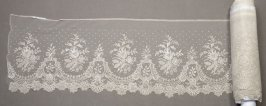Flounce, Brussels applique lace
