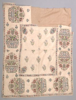 Panel multi colored floral embroidery with metallic thread