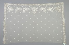 Stole or shawl end, lace