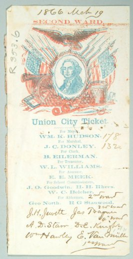 2nd Ward, Union City ticket, March 19, 1866