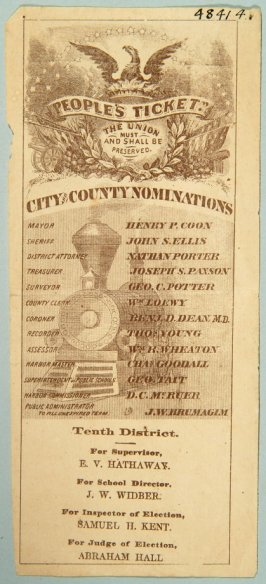 Ticket for City and County nominations for 10th District