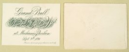 Invitation to the Grand Ball of Native Sons of the Golden West