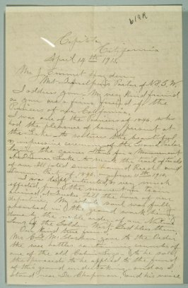 Letter and postcard written by Patty Reed to Emmet Hayden