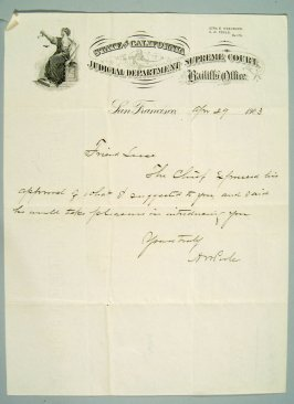 Letter to J.R. Leese