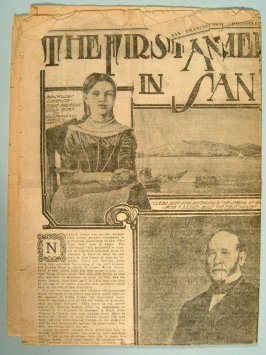Page of San Francisco Chronicle showing picture of J. Leese