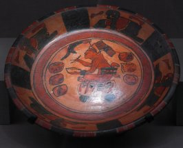 Plate with scribe painting (27)