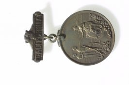 Spanish-American War military badge: From the people of Cal-ifornia to it's soldiers