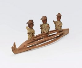 Three-person bidarka model