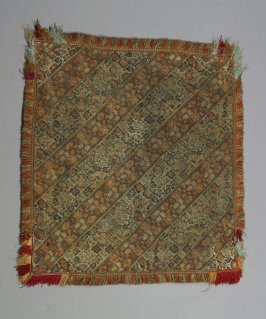Square of embroidered strips