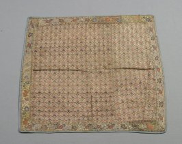 Square of rose velvet and brocade