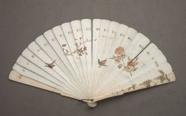 Fan, floral painted brise