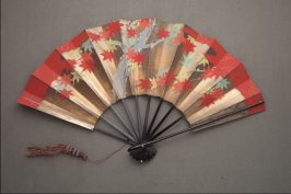 Fan, maple leaves