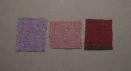 Three Harris tweed fragments