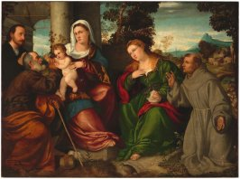 The Holy Family with Mary Magdalen, St. Francis and Donor
