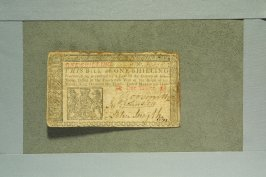 Colonial one shilling bill