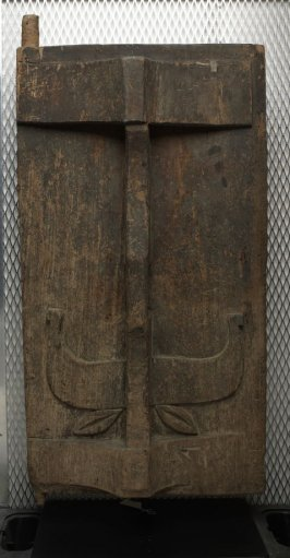 Door with Buffalo Head Motif