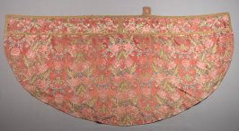 Cope brown with repeating multi color floral pattern brocade(1934.3.236a)