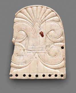 Nimrud Ivory Shield-Shaped Blinker Ornament with Sacred Tree